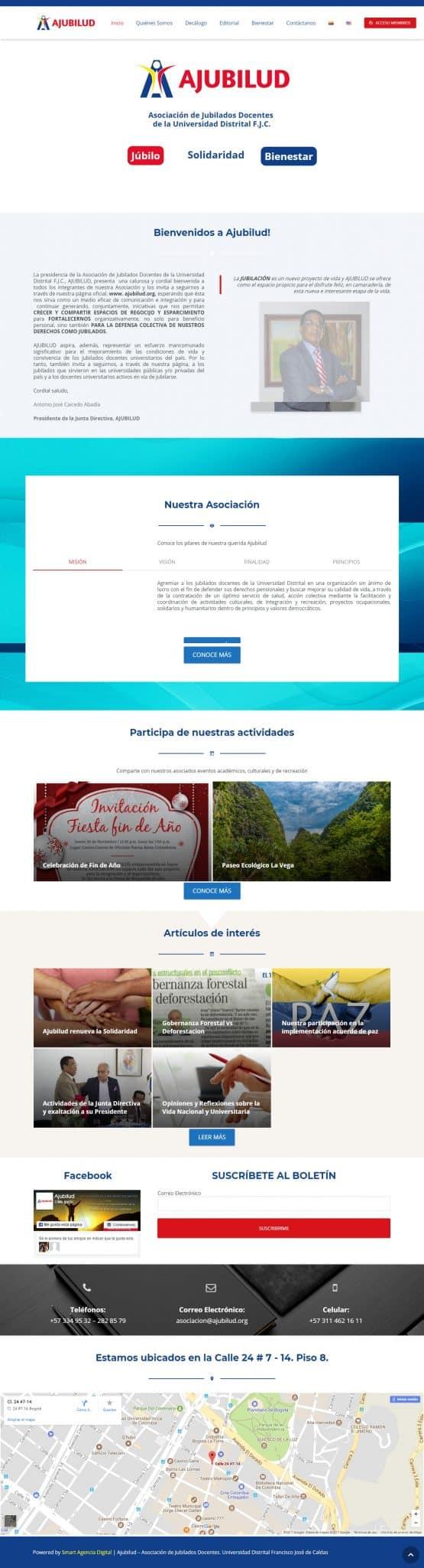 agencias paginas web bogota